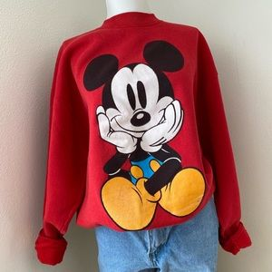 Vintage Mickey&Co. Mickey Front and Back Crewneck